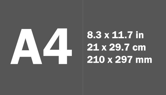 ukuran a4